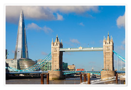 Poster Premium The Shard & Tower Bridge