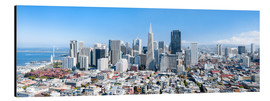 Stampa su alluminio  San Francisco skyline in summer - Jan Christopher Becke