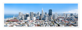Poster Premium  San Francisco skyline in summer - Jan Christopher Becke
