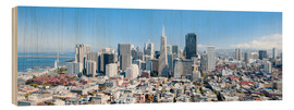 Stampa su legno  San Francisco skyline in summer - Jan Christopher Becke