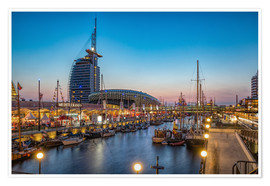 Poster Premium  Sail 2015 Klimahaus - Havenwelten Bremerhaven at night - Rainer Ganske