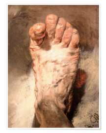 Poster Premium  Foot of the artist - Adolph von Menzel