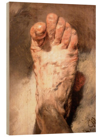 Legno  Foot of the artist - Adolph von Menzel