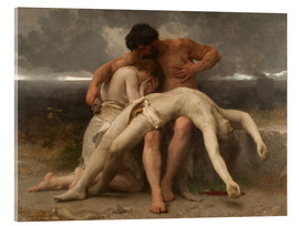 Stampa su vetro acrilico  The First Mourning - William Adolphe Bouguereau