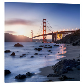 Stampa su vetro acrilico  San Francisco Golden Gate Bridge - Jan Christopher Becke