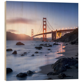Stampa su legno  San Francisco Golden Gate Bridge - Jan Christopher Becke