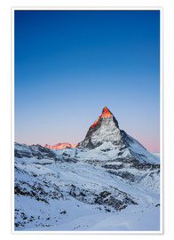 Poster Premium  Matterhorn at sunrise from Riffelberg - Peter Wey