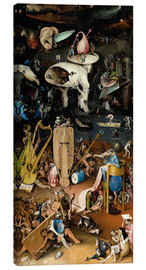 Tela  Garden of Earthly Delights, Hell - Hieronymus Bosch