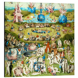 Alluminio Dibond  Garden of Earthly Delights, mankind before the Flood - Hieronymus Bosch