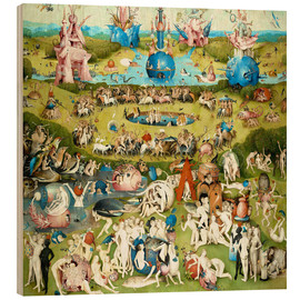 Stampa su legno  Garden of Earthly Delights, mankind before the Flood - Hieronymus Bosch