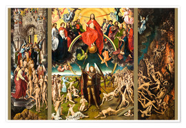 Poster Premium  Judgement Day - Hans Memling