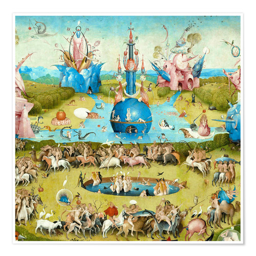 Poster Premium Garden of Earthly Delights, mankind before the Flood (detail)