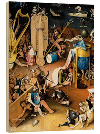 Stampa su legno  Garden of Earthly Delights, Hell (detail) - Hieronymus Bosch