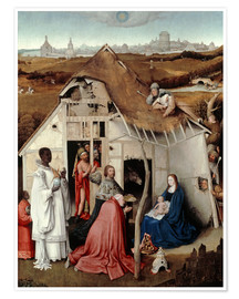 Poster Premium  Adoration of the Magi - Hieronymus Bosch