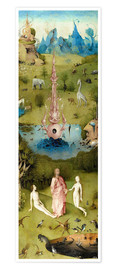 Poster Premium  Garden of Earthly Delights, the paradise - Hieronymus Bosch