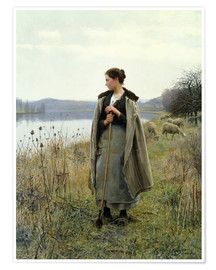 Poster Premium  The Shepherdess of Rolleboise - Daniel Ridgway Knight