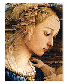 Poster Premium Madonna and Child with Two Angels (detail face)