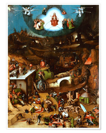 Poster Premium  The Last Judgement, midsection - Hieronymus Bosch