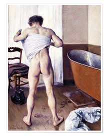 Poster Premium  Uomo in bagno - Gustave Caillebotte