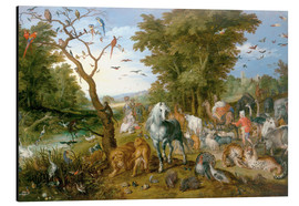 Stampa su alluminio  Noah leads the animals into the ark - Jan Brueghel d.Ä.