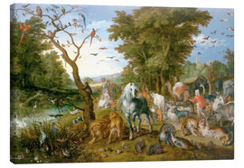 Stampa su tela  Noah leads the animals into the ark - Jan Brueghel d.Ä.