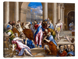 Stampa su tela  Christ expels traders from the temple - Dominikos Theotokopoulos (El Greco)