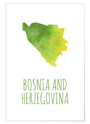 Poster Premium Bosnia and Herzegovina