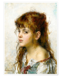 Poster Premium Portrait of a young Girl