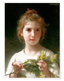 Poster Premium  The flowering mimosa - William Adolphe Bouguereau