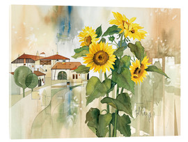 Stampa su vetro acrilico  Sunflower greetings - Franz Heigl