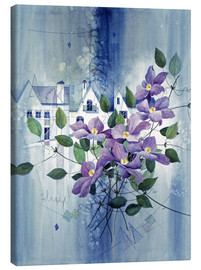 Stampa su tela  View with clematis - Franz Heigl