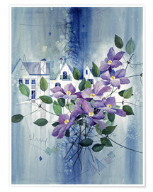 Poster Premium View with clematis