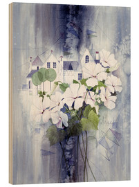 Stampa su legno  View with sweet peas - Franz Heigl