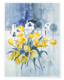 Poster Premium  View with tulips - Franz Heigl