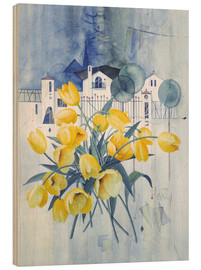 Legno  View with tulips - Franz Heigl