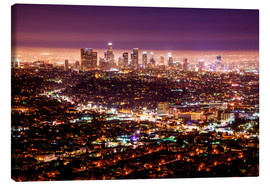 Stampa su tela  Los Angeles at night - Daniel Heine