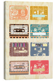 Stampa su tela  Vintage Tapes Collage - GreenNest