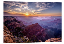 Stampa su vetro acrilico  Sunset at Grand Canyon - Daniel Heine