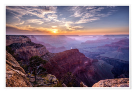 Poster Premium  Sunset at Grand Canyon - Daniel Heine