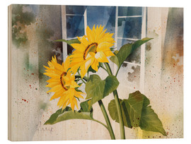 Stampa su legno  Sunflowers - Franz Heigl