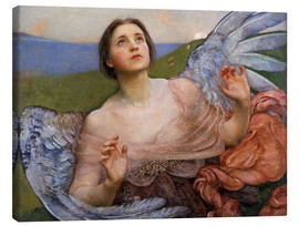 Stampa su tela  The Sense of Sight - Annie Louisa Swynnerton