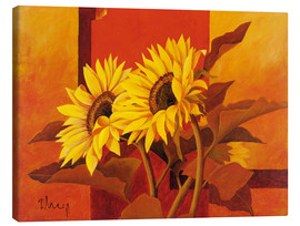 Tela  Two sunflowers III - Franz Heigl