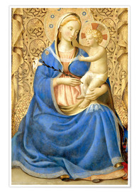 Poster Premium  Madonna with Child - Fra Angelico