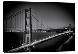 Stampa su tela  Golden Gate Bridge in the Evening - Melanie Viola