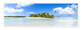 Poster Premium One Foot Island, Cook Islands