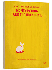 Stampa su legno  No036 My Monty Pyton And The Holy Grail minimal movie poster - chungkong