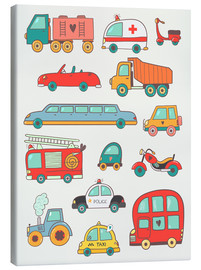 Tela  So many cars for the nursery - Petit Griffin