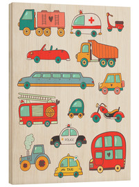 Legno  So many cars for the nursery - Petit Griffin