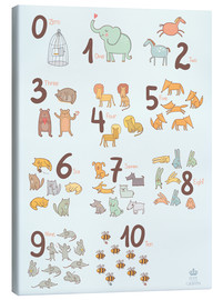 Tela  Animal numbers for the nursery - Petit Griffin