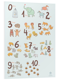 Stampa su schiuma dura  Animal numbers for the nursery - Petit Griffin
